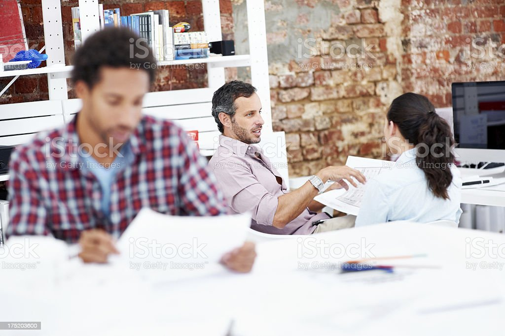 Working in a productive office royalty-free stock photo