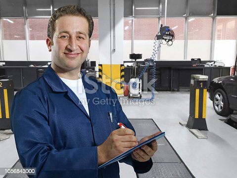 istock Working in car service 1056843000