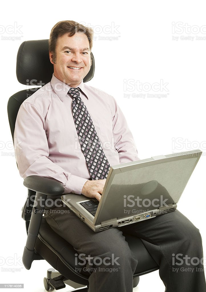 Working in Ergonomic Chair royalty-free stock photo