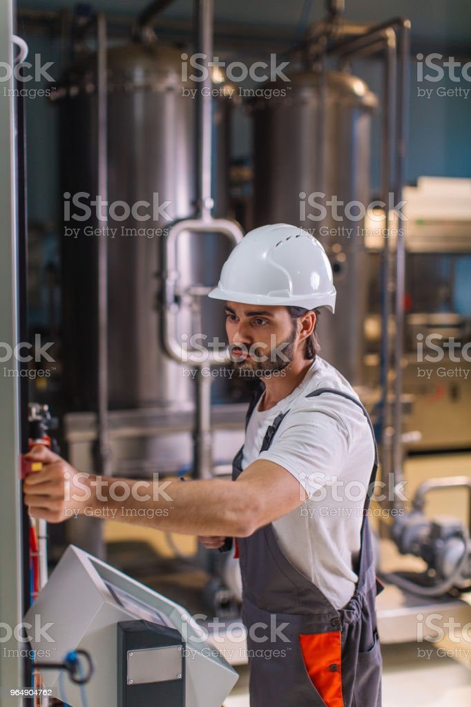 Working in factory royalty-free stock photo