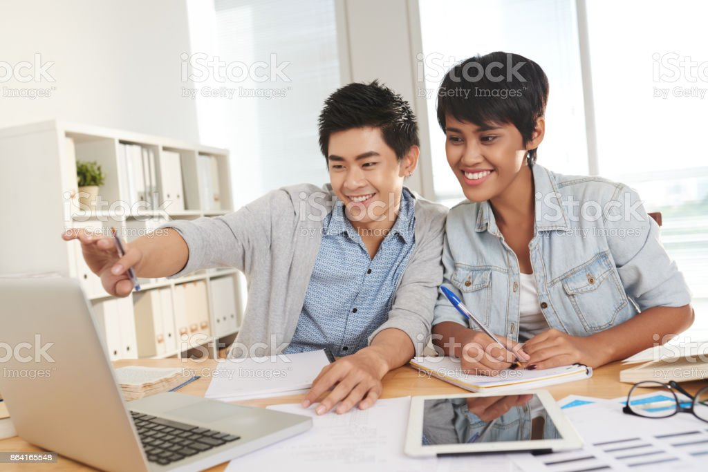 Working in pair royalty-free stock photo