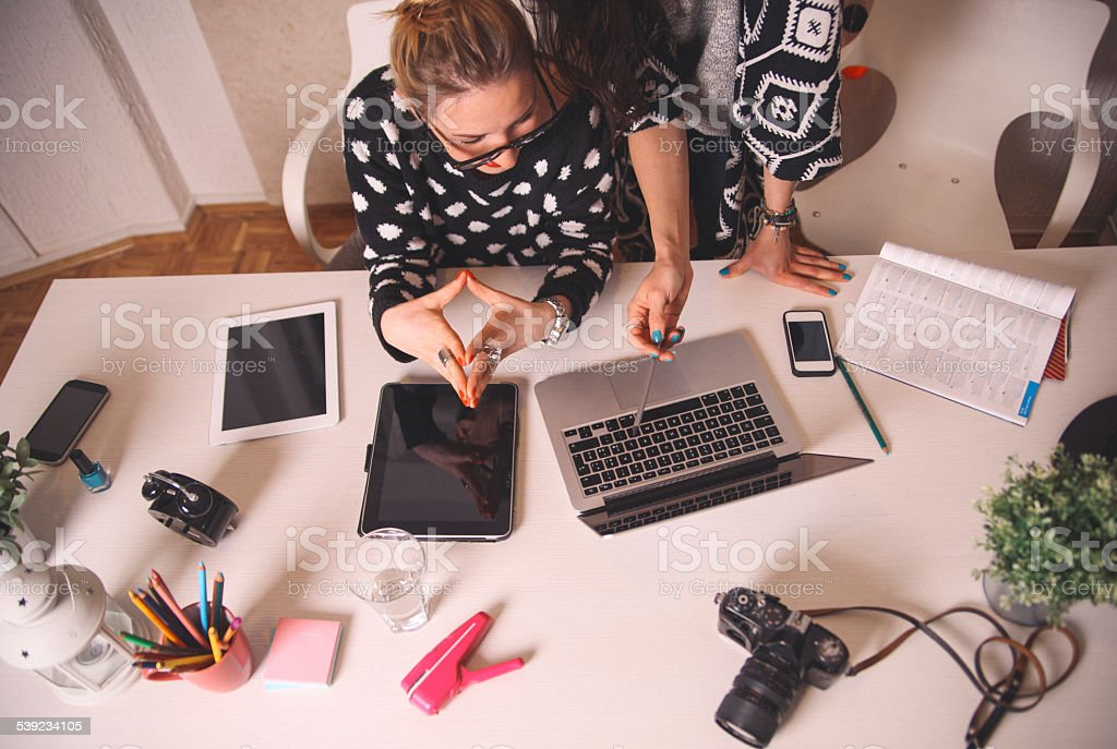 working in the cretive office royalty-free stock photo