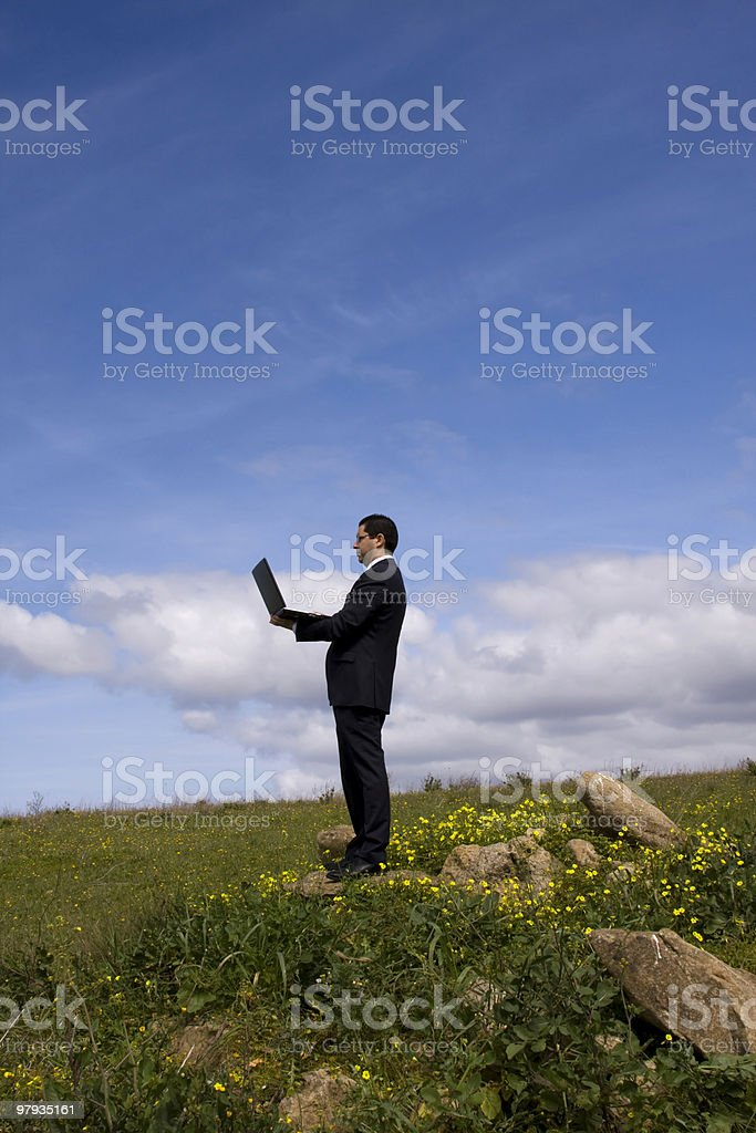 Working in the field royalty-free stock photo