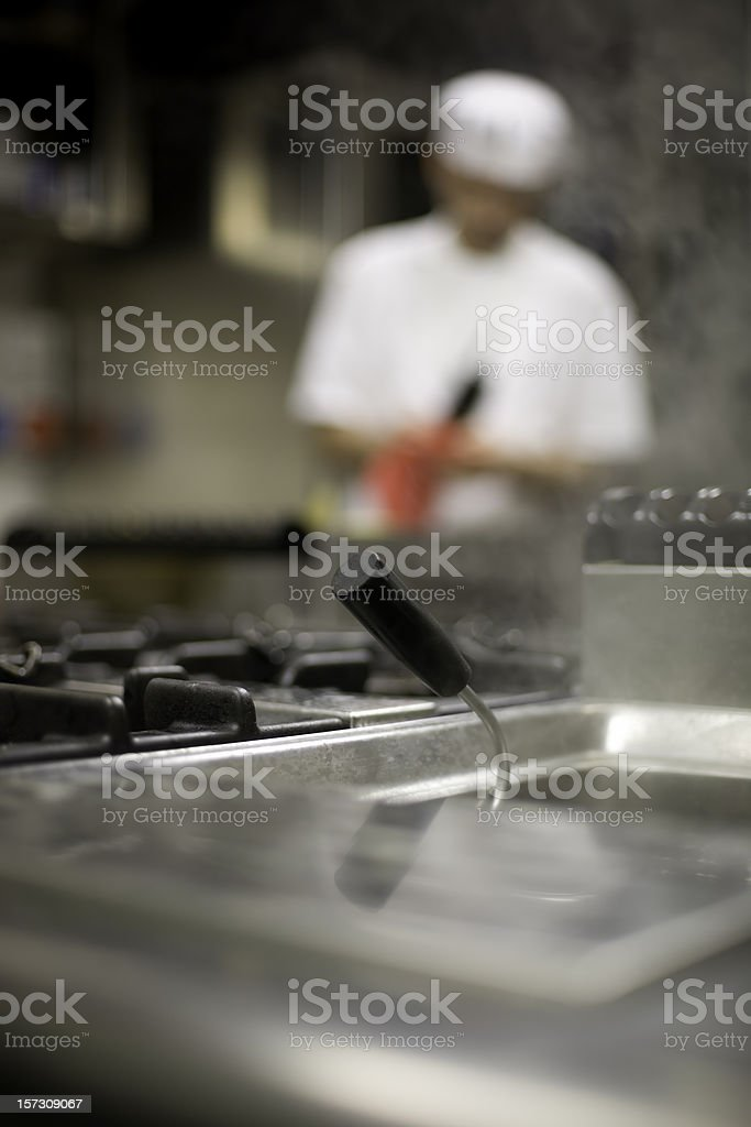 Working in the kitchen royalty-free stock photo