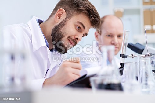 istock Working in the lab 543458160