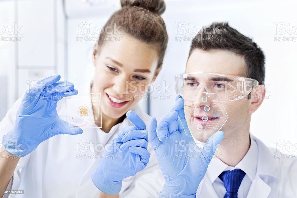 Working in the laboratory - Stock Image royalty-free stock photo