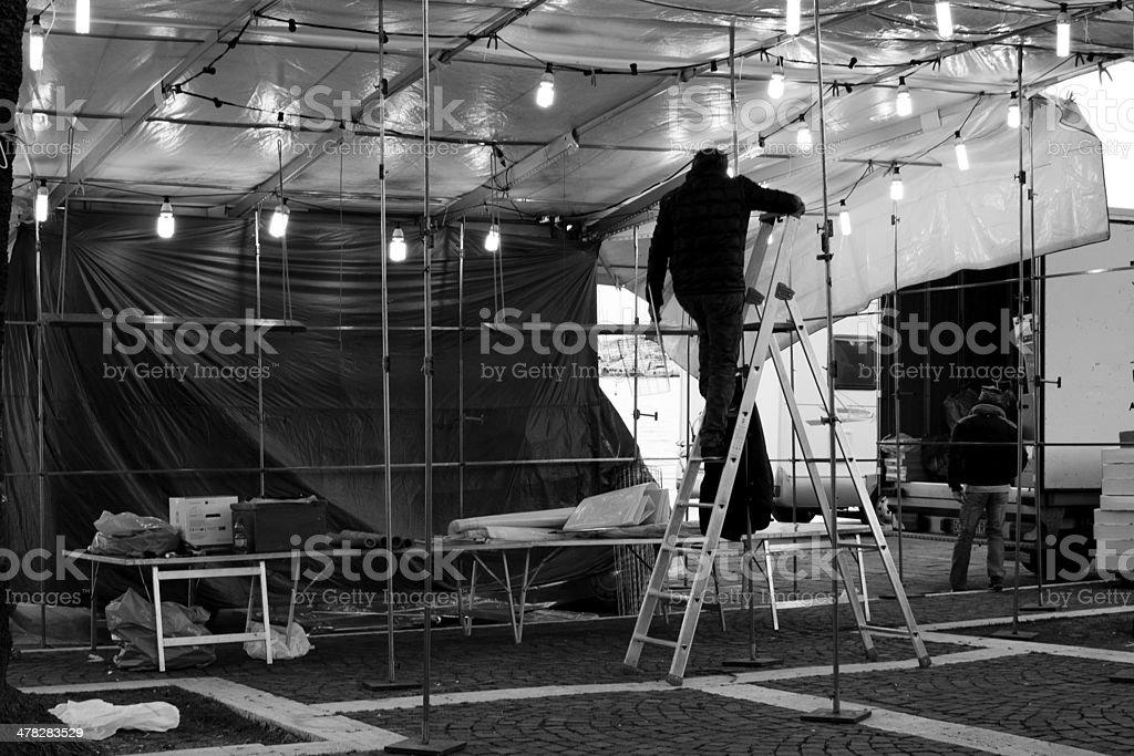 Lavorare nei mercati stock photo