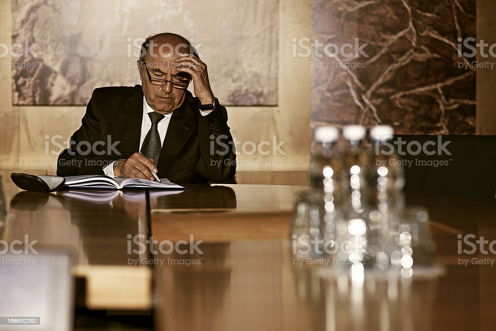 Working in the office royalty-free stock photo