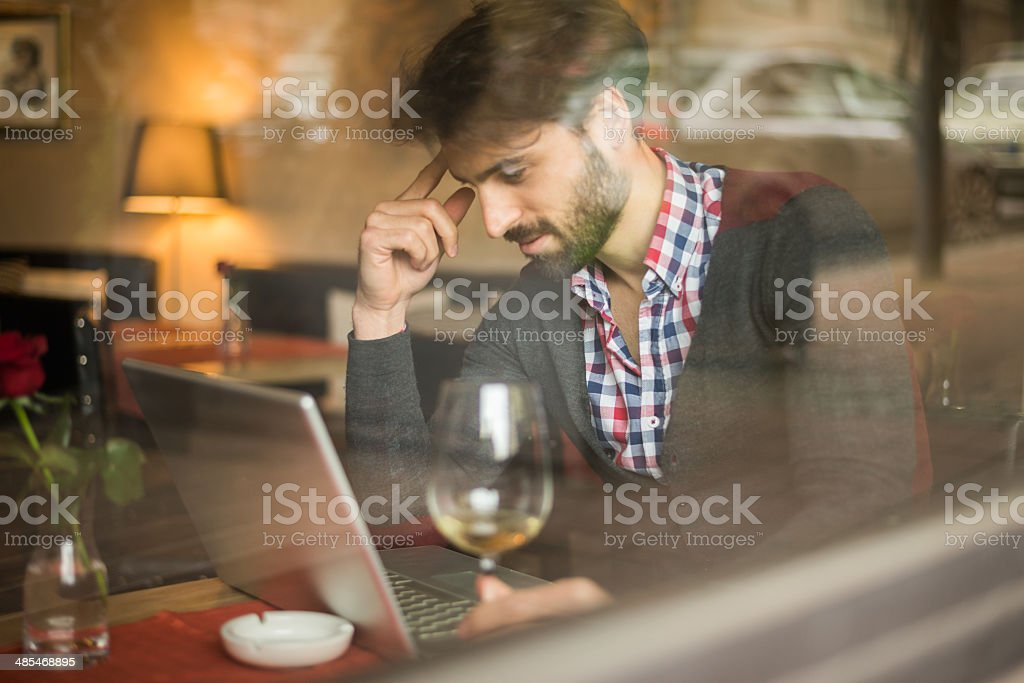 Working in the restaurant royalty-free stock photo