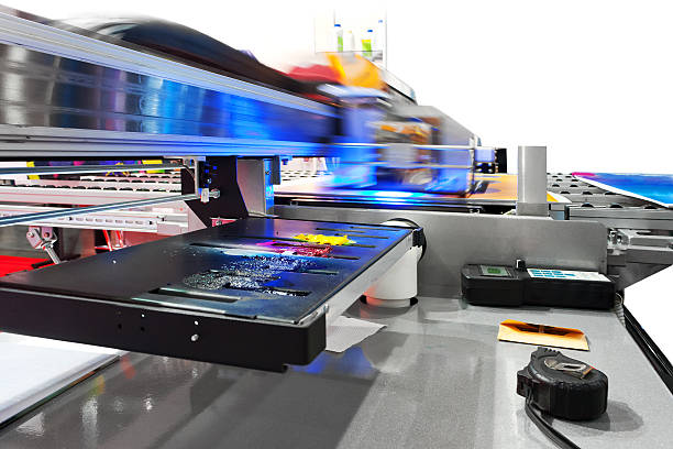 Die industrielle großformatigen UV-inkjet Drucker – Foto
