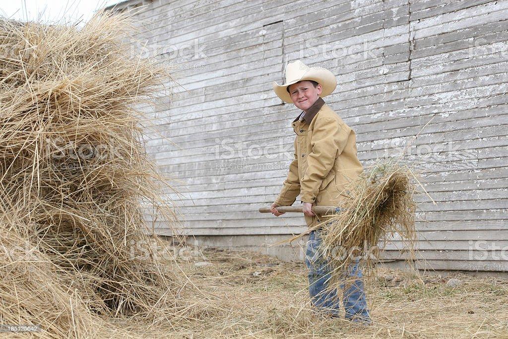 Working kid stock photo