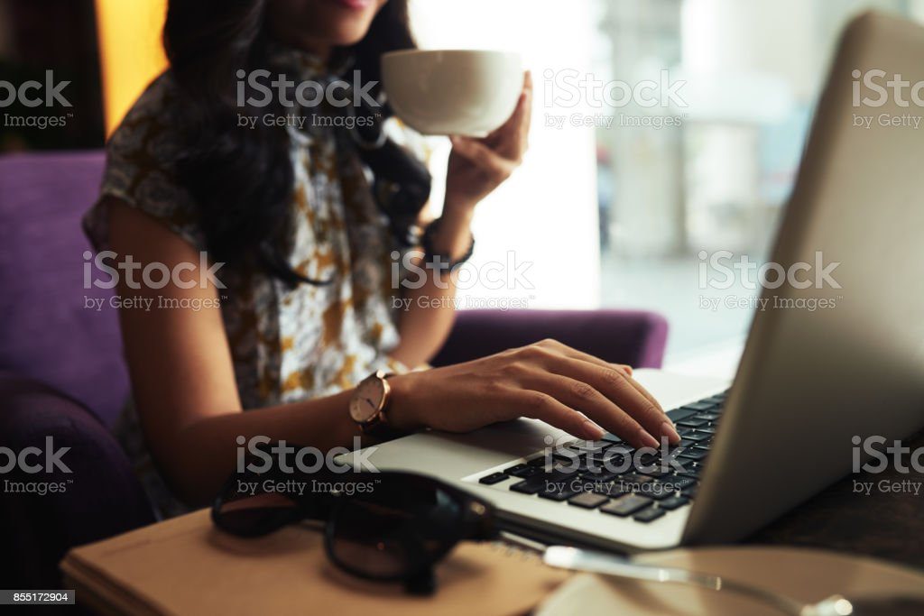 Working lady stock photo