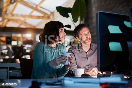 istock Working late in a small office in Barcelona 646860750