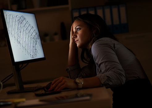 Working Late Stock Photo - Download Image Now