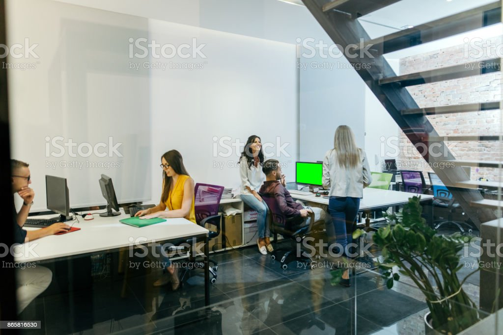 working late stock photo