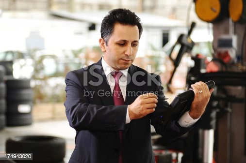 1073743202 istock photo Working life: The car shop manager 174943020