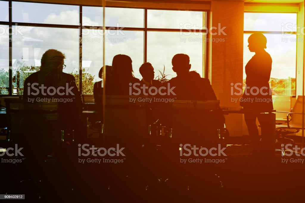 Working Long Hours stock photo