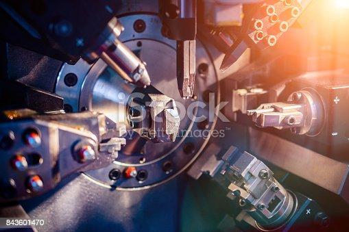 istock Working machine area CNC 843601470