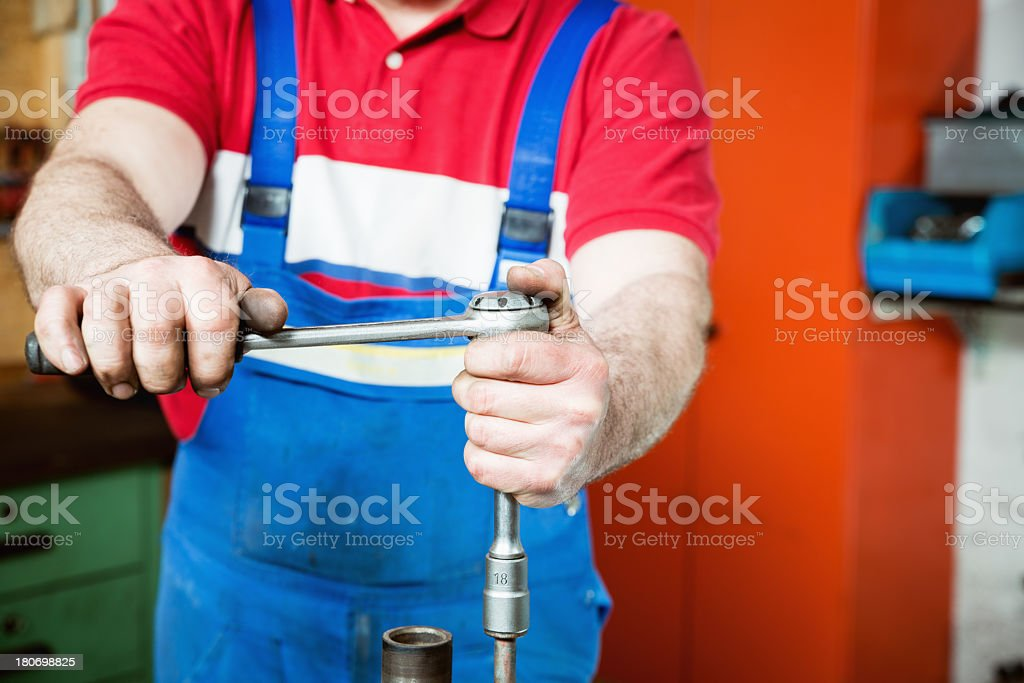 Working machinist royalty-free stock photo
