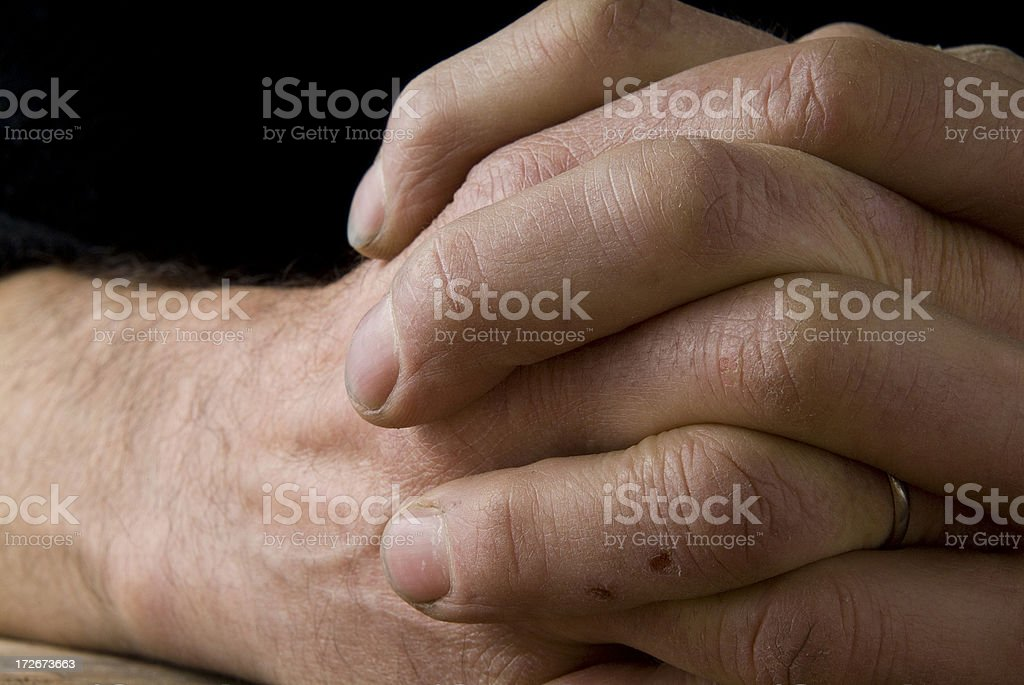 Working Man Hand's Series royalty-free stock photo
