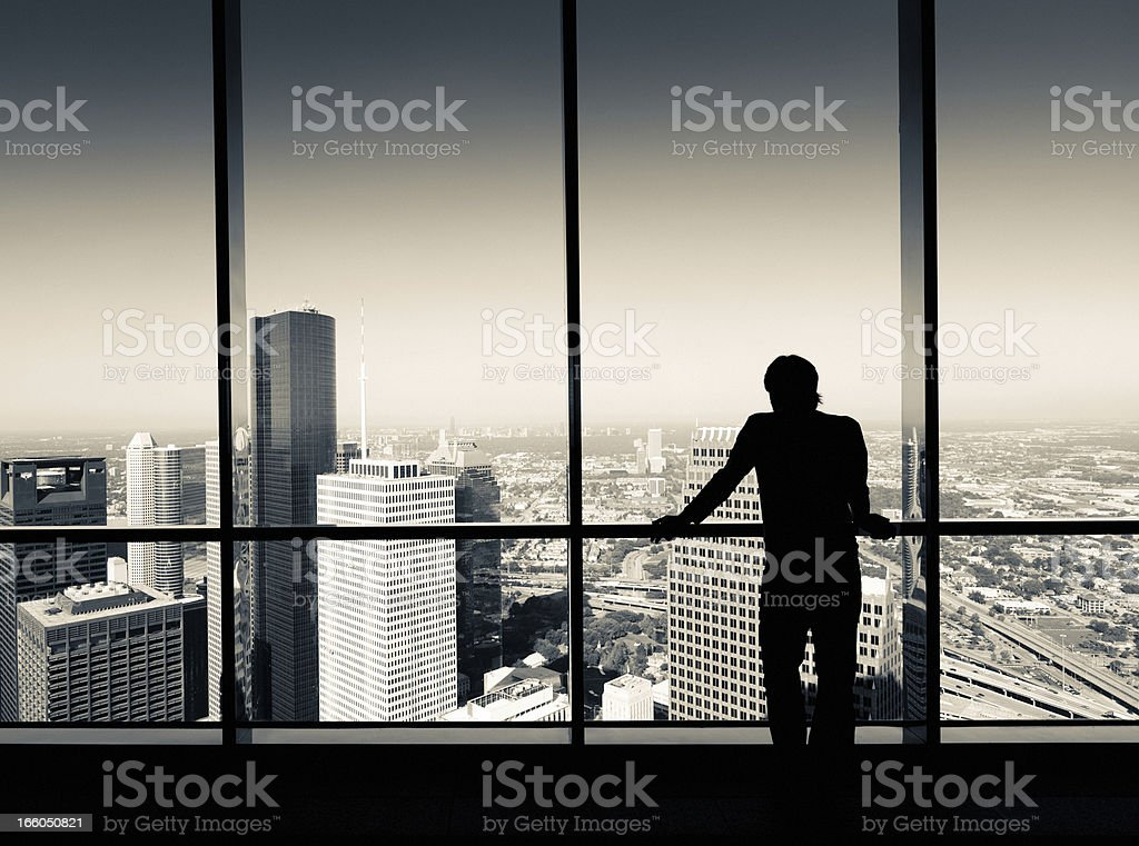Working man looking the city royalty-free stock photo