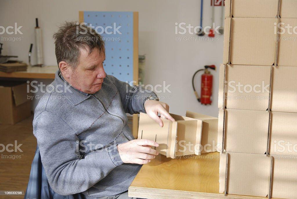 working man stock photo