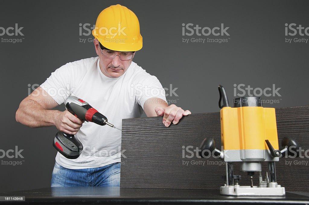 Working man royalty-free stock photo