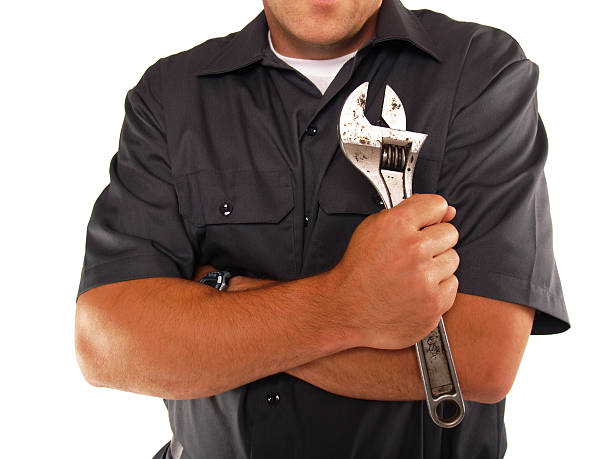 Working Man Torso and Arms stock photo