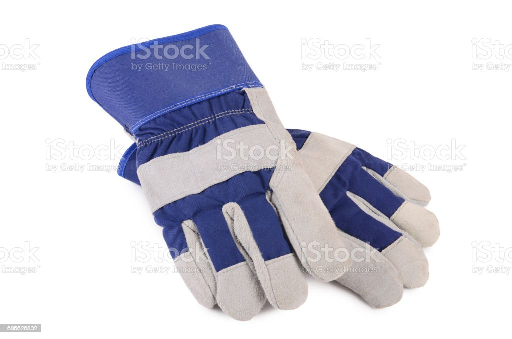 Working mens gloves on white background royalty-free stock photo