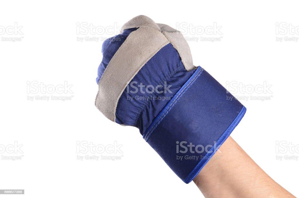 Working mens gloves on white background 免版稅 stock photo