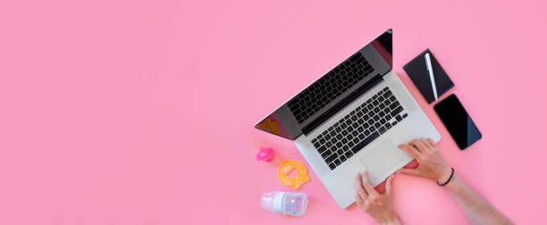 Working mom top view flatlay of workplace baby items and laptop with picture id1089079124?b=1&k=6&m=1089079124&s=612x612&w=0&h=a20wn8vmalqpoplga 4oeokx2dudy4vh0f000 nf4dy=