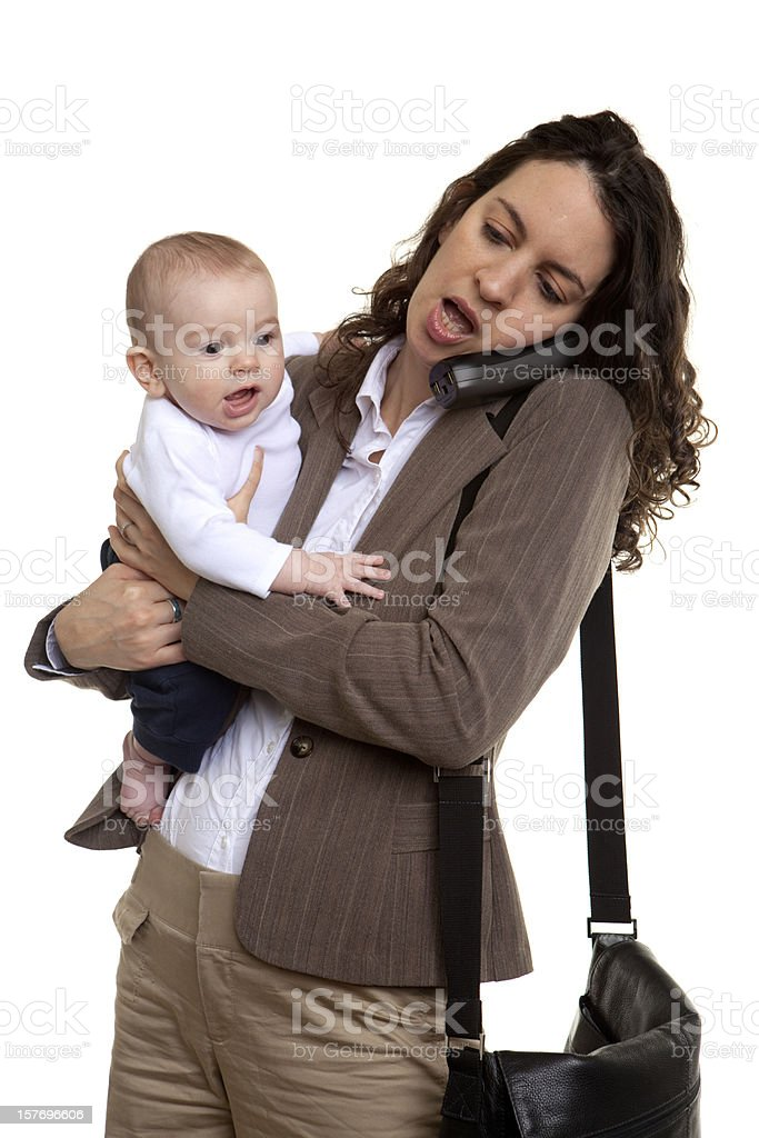 working mother royalty-free stock photo