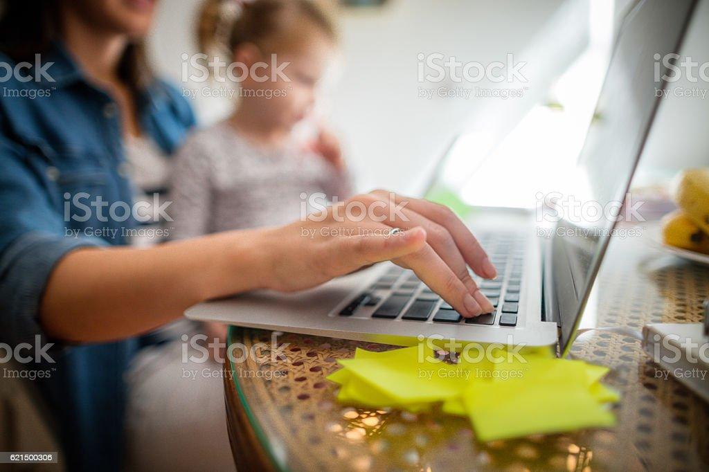 Working Mutter  Lizenzfreies stock-foto