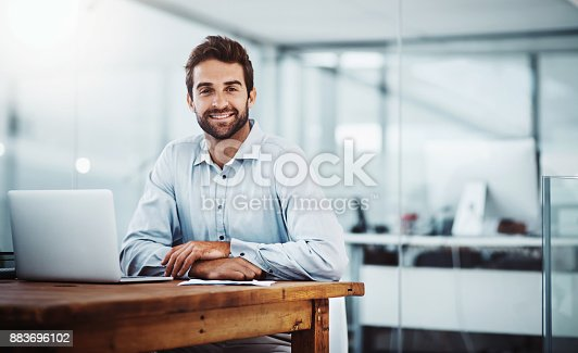 istock Working my way to the top of success 883696102