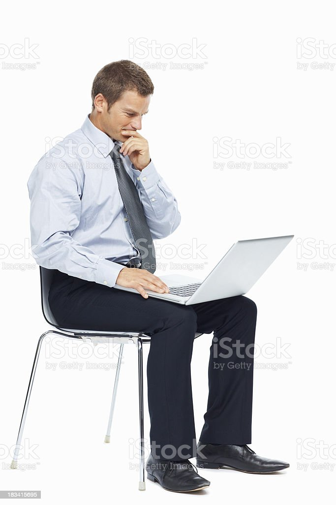 Working on a business project royalty-free stock photo