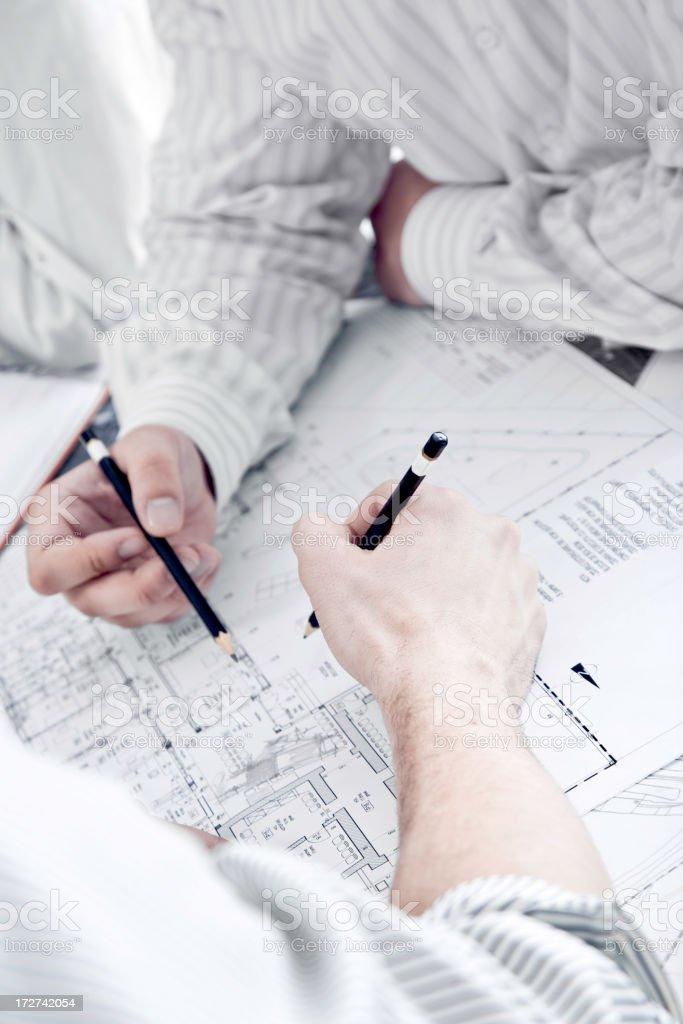 Working on a construction project royalty-free stock photo