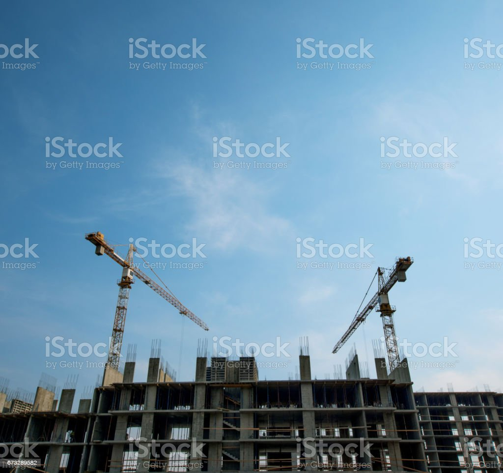 working on a construction site royalty-free stock photo