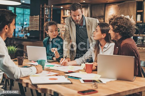 istock Working on a new business strategy 843064562
