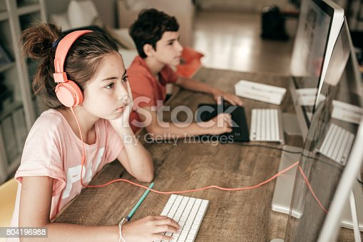 istock Working on a school project 804196988