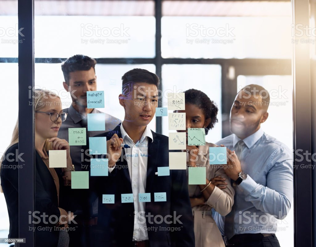 Working on a winning strategy royalty-free stock photo