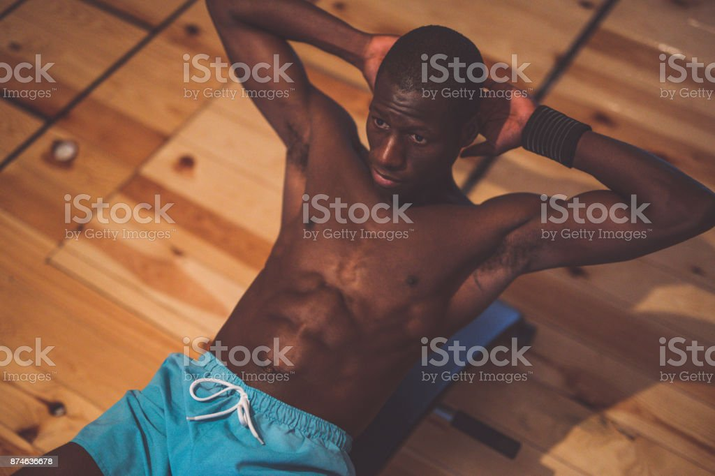 Working On Abs stock photo