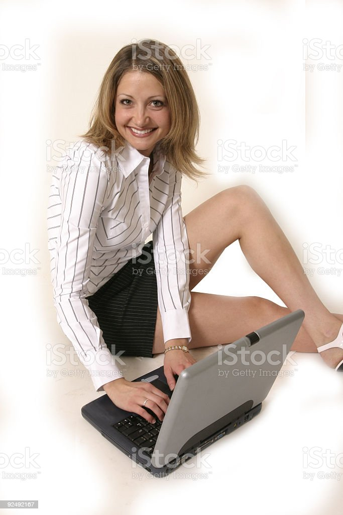 Working on Comupter royalty-free stock photo
