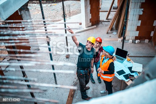istock Working on construction site 897414040