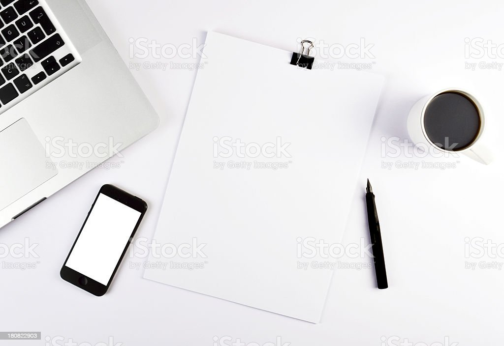 Working On Desk (Click for more) stock photo