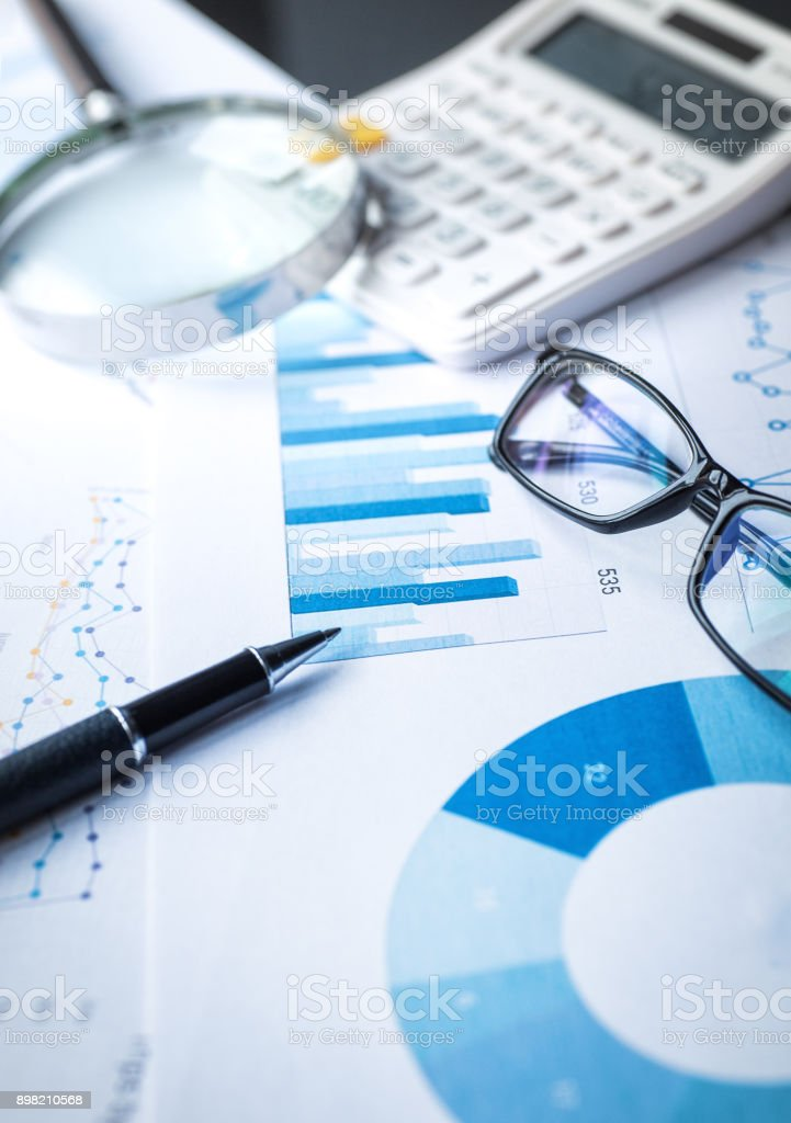 Working on financial concepts stock photo