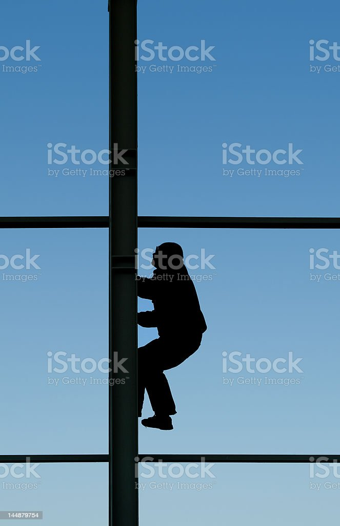Working on heights royalty-free stock photo