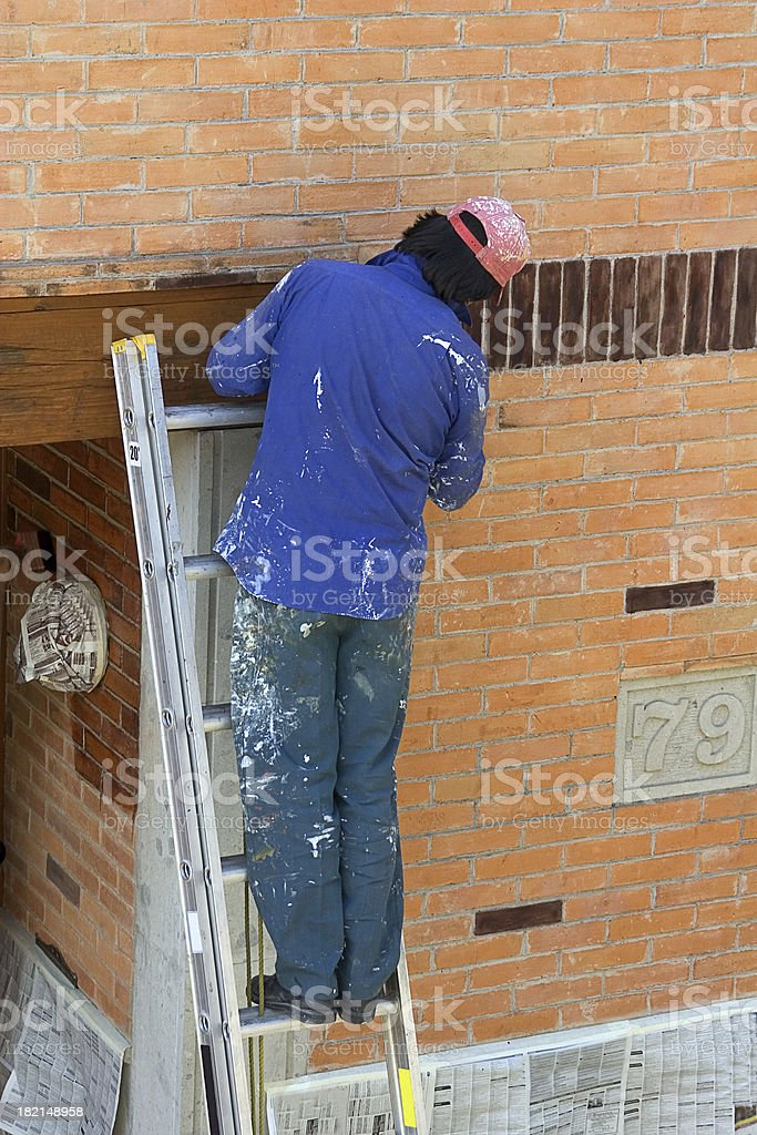 working on home improvements royalty-free stock photo