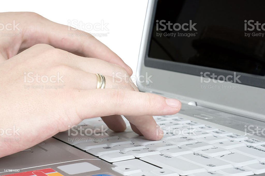 Working on Laptop royalty-free stock photo