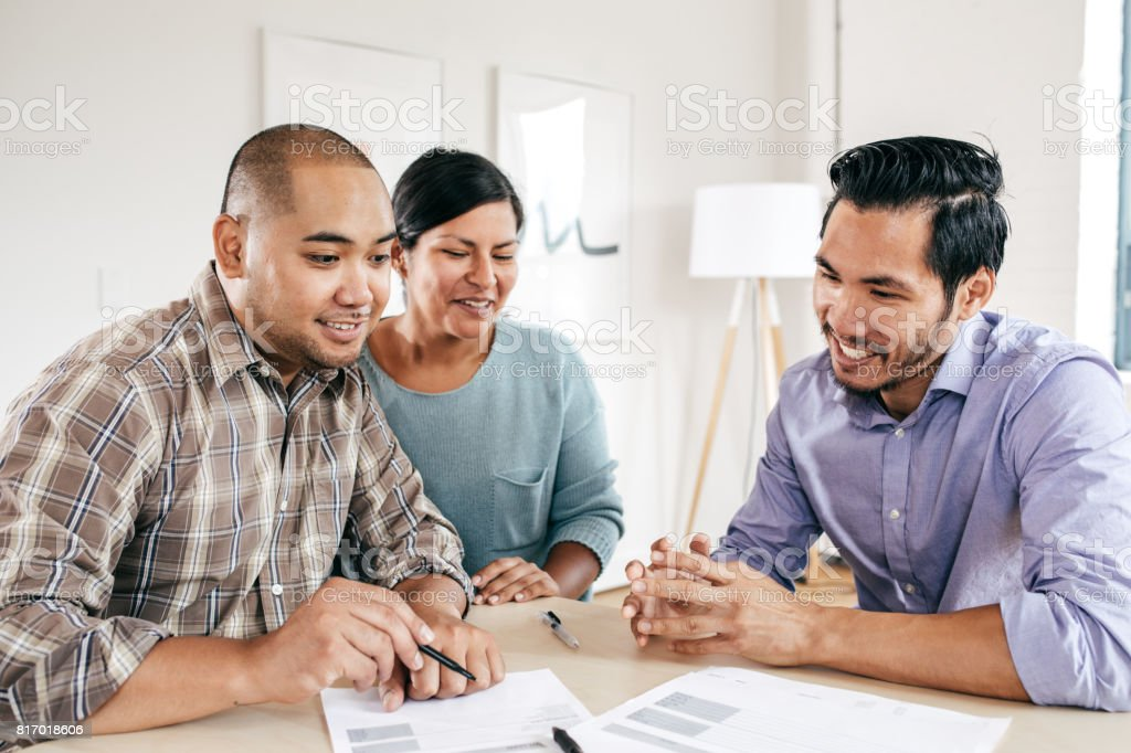 Working on mortgage rates stock photo