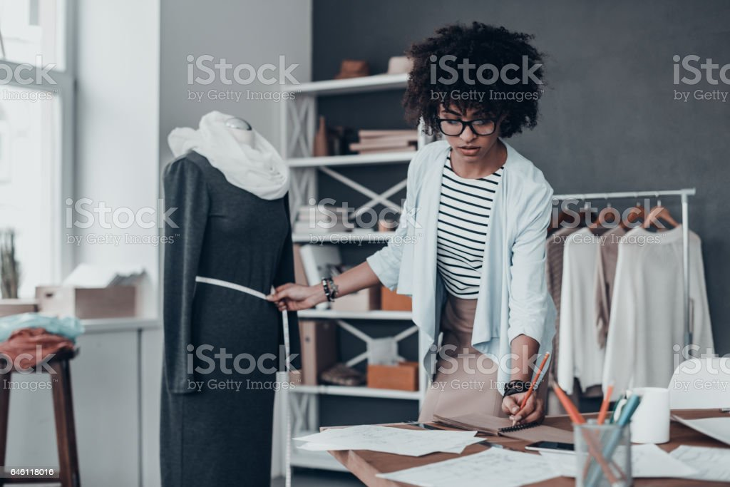 Working on new collection. stock photo
